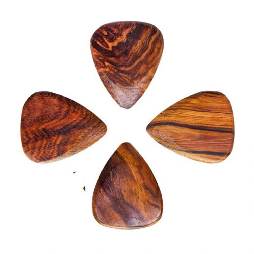 Timber Tones Burma Padauk 4 Guitar Picks